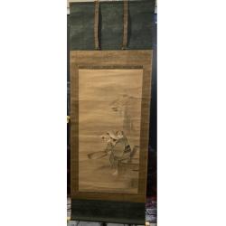 Kakejiku antiguo pintado a...